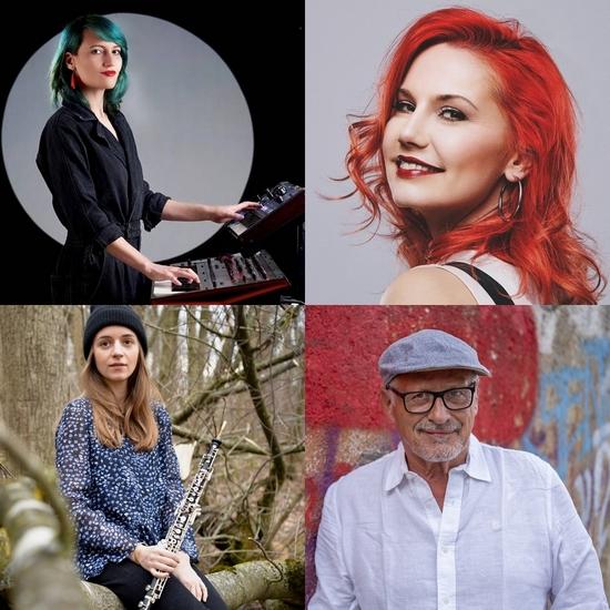 Tamara Banez, Sarah Straub, Miriam Hanika und Konstantin Wecker