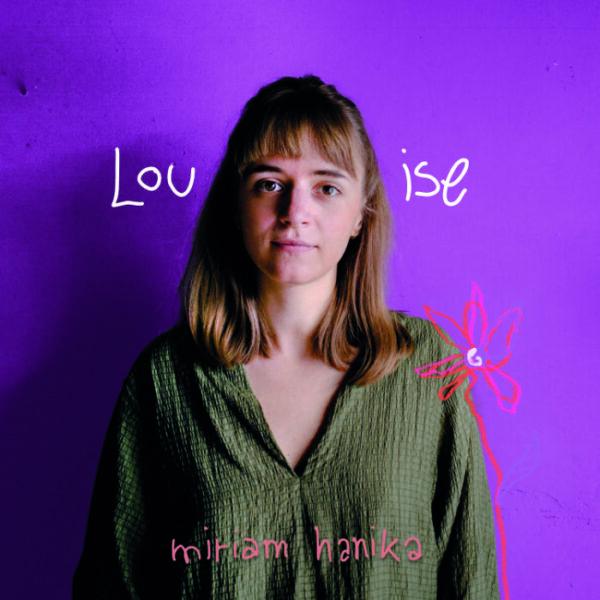 """CD-Cover von """"Louise"""", Miriam Hanika mit einer Blume"""